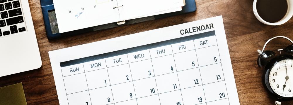カレンダーの使い方
